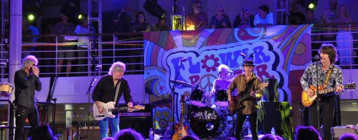 The Yardbirds on Pool Deck of The Flower Power Cruise on the Celebrity Infinity April 3, 2019 by Alisa B. Cherry.