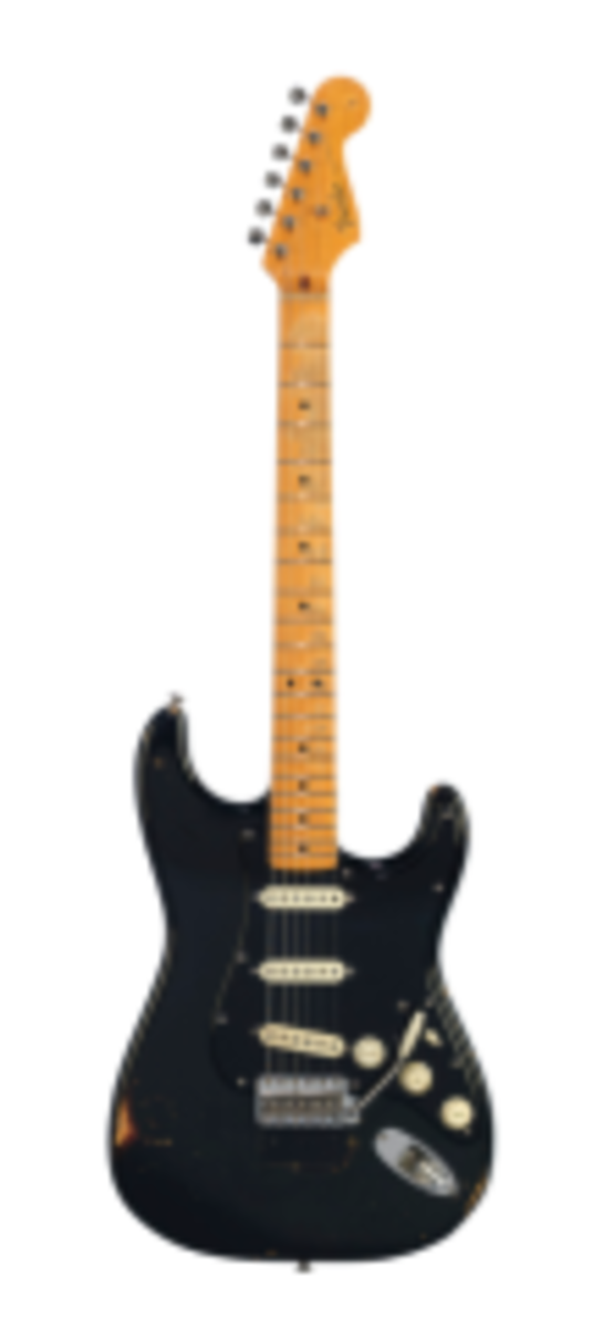 THE BLACK STRAT. Estimated: $100,000-150,000. Sold for: $3,975,000