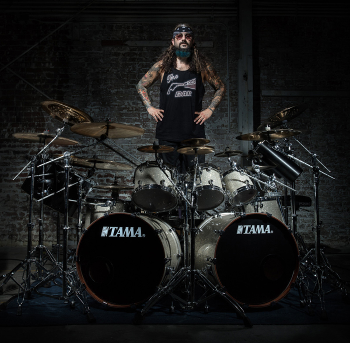 Mike Portnoy at his drum set (Publicity photo by Hristo Shindov).