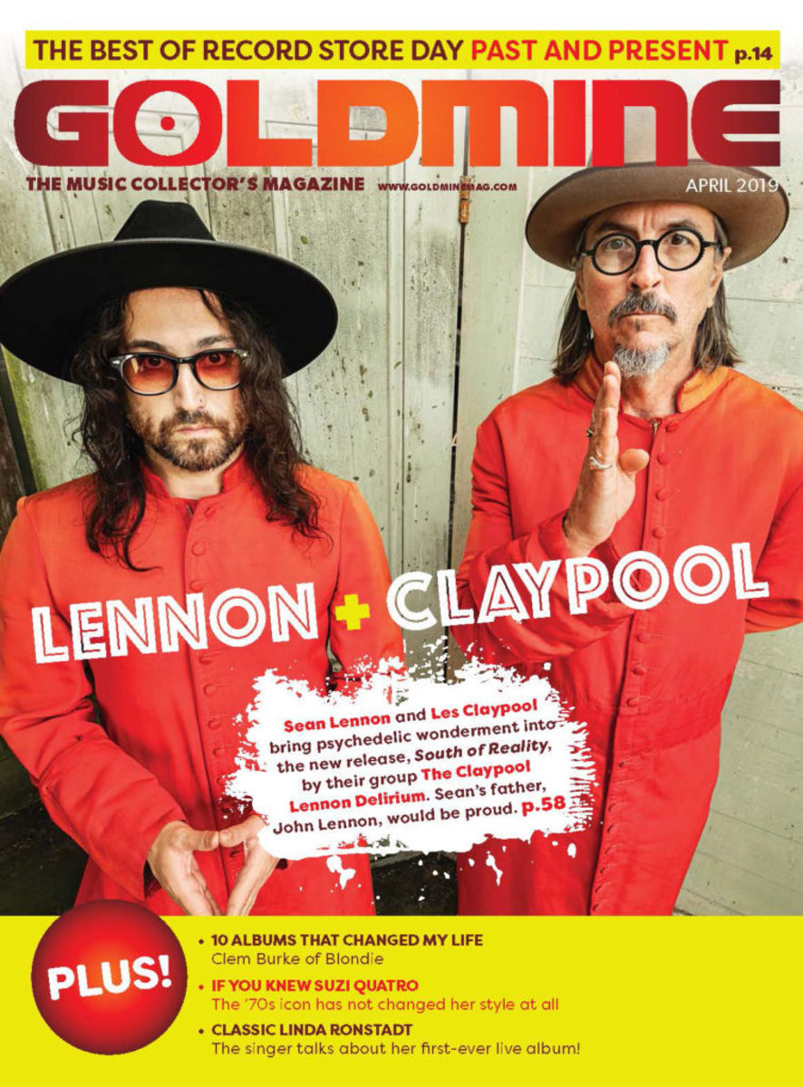 Read the Sean Lennon interview as part of this Claypool Lennon Delirium feature by picking up the new print issue of Goldmine Magazine on the newsstand now at select Barnes and Noble and Books A Million stores, or by digital download by clicking the above image.