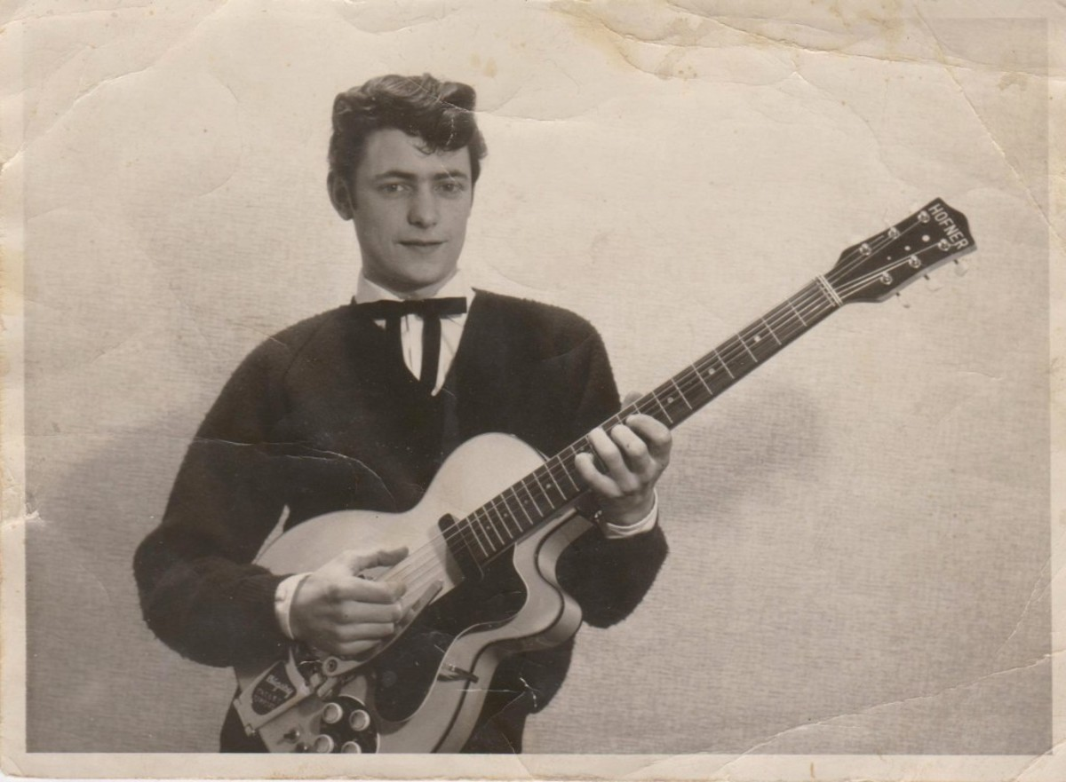 RIGHT OUT OF THE PHOTO ALBUM: A young Ritchie Blackmore posing with one of his first guitars. Photo courtesy of Ritchie Blackmore.