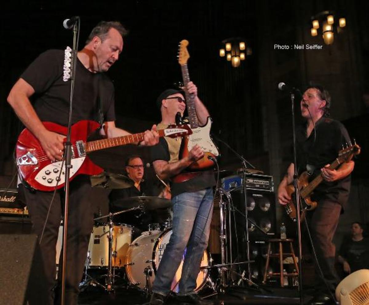 The Smithereens with Marshall Crenshaw are shown performing at Outpost in the Burbs in Montclair, NJ on Friday, June 1st. (Photo by Neil Seiffer)