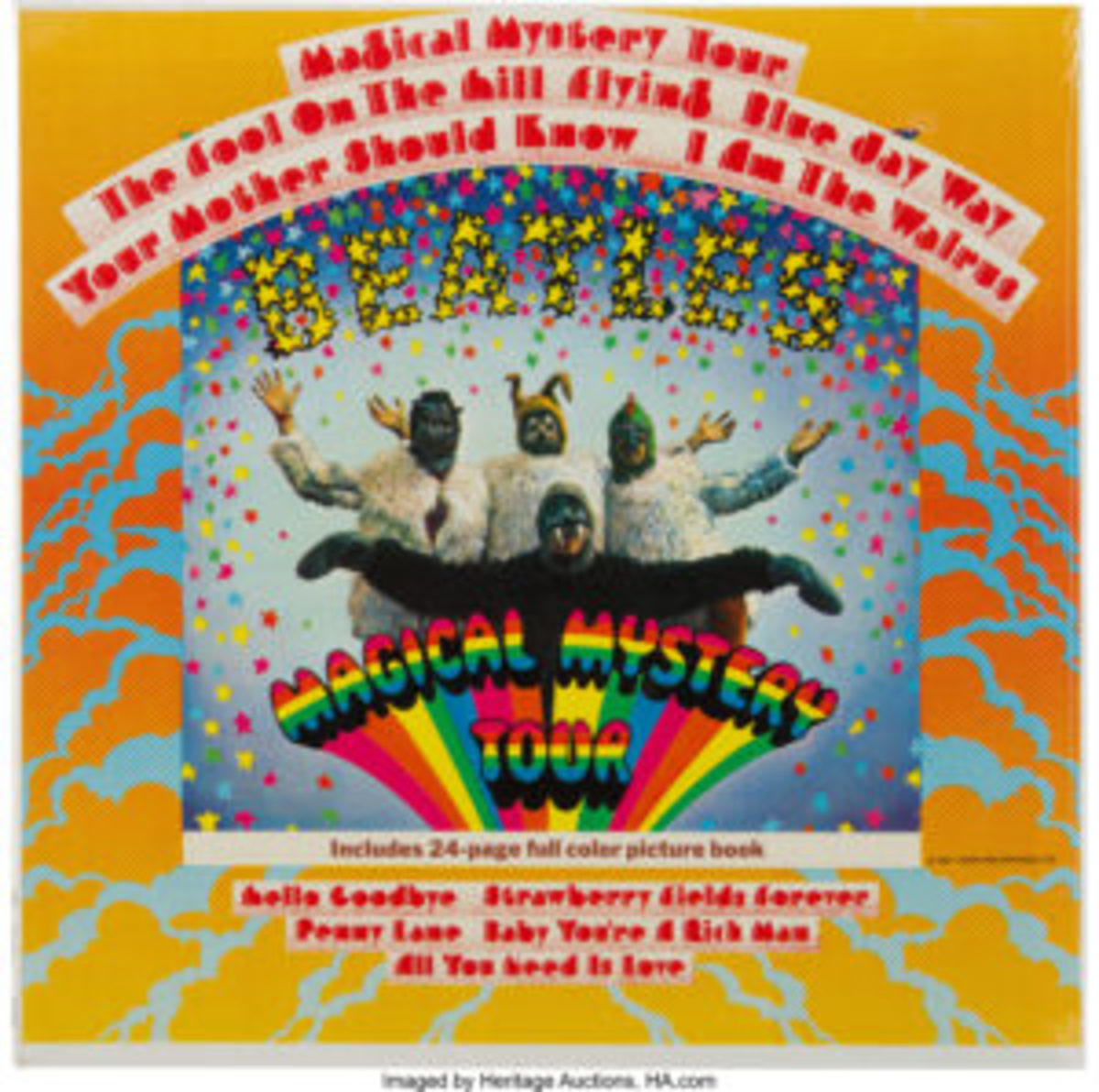 """The """"Magical Mystery Tour"""" original gatefold mono LP (Capitol MAL2835) recently sold for $1,750 at Heritage Auctions. Image courtesy of Heritage Auctions."""