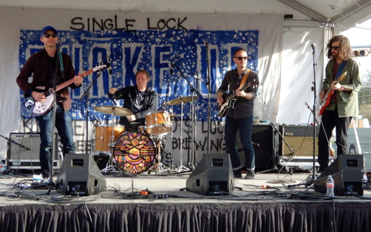 Left to right: Belle Adair's Matthew Green, Reed Watson, Hayden Crawford and Adam Morrow performing at the Single Lock Records day party. (Photo by Chris M. Junior)