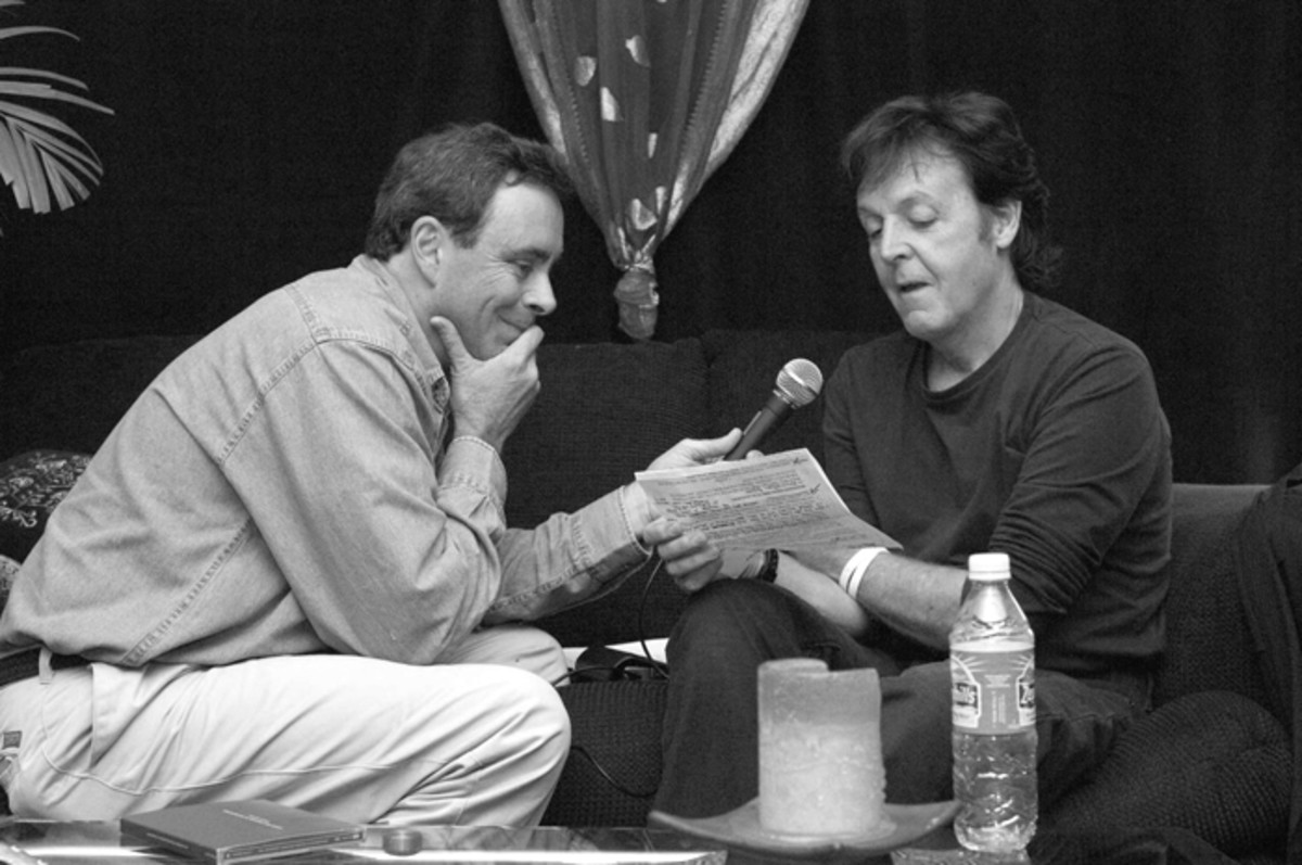 JOE & PAUL: Joe Johnson bonds with a Beatle on the Beatles Brunch show. Image courtesy of Joe Johnson.
