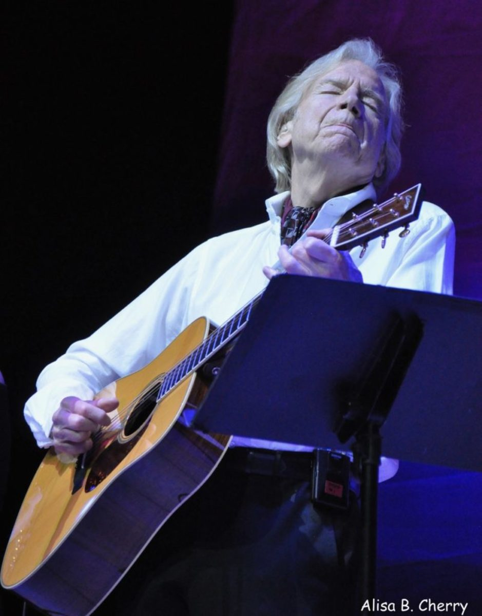 Justin Hayward in the Royal Theater of Mariner of The Seas during On The Blue Cruise, February 14, 2019.