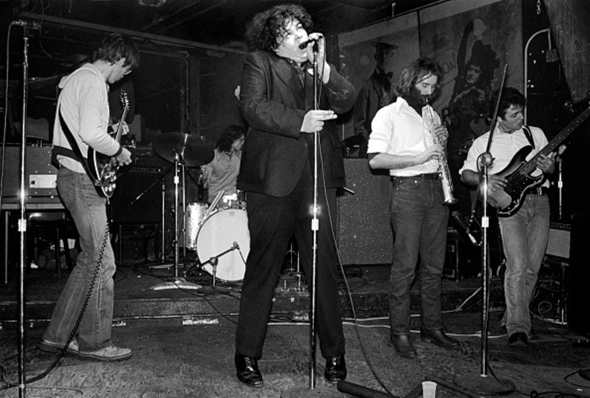Pere Ubu performing at CBGB's in New York City on March 2,1978.