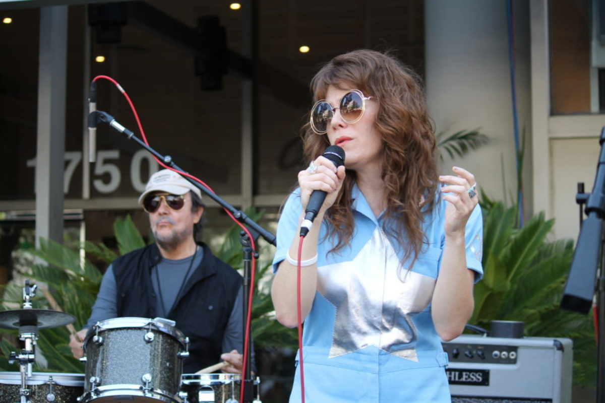 Jenny Lewis (right) and Jim Keltner