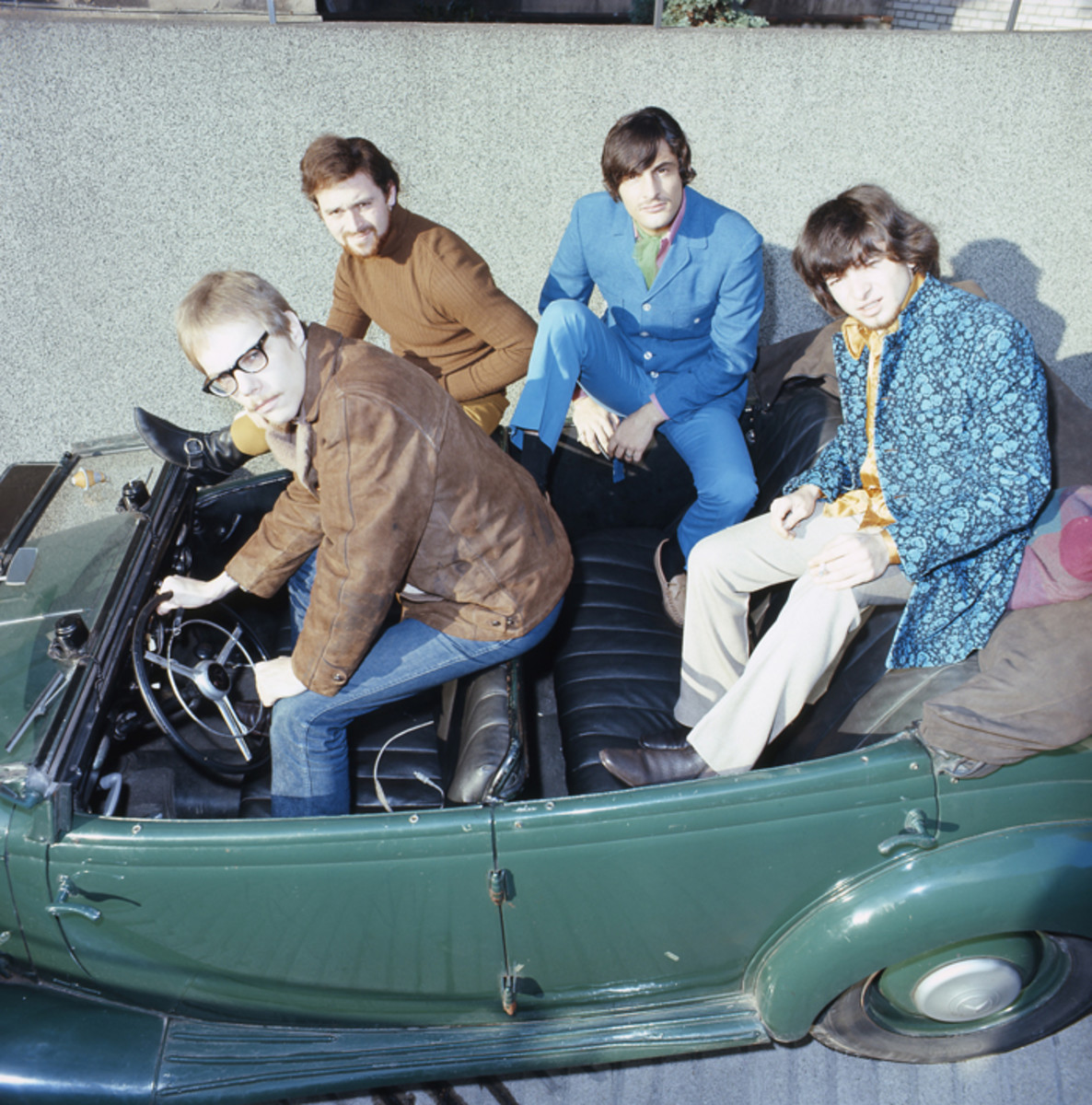 Vanilla Fudge posed in an open top car by Alster Lake, Hamburg, Germany in 1968 (Photo by Gunter Zint/K & K Ulf Kruger OHG/Redferns)