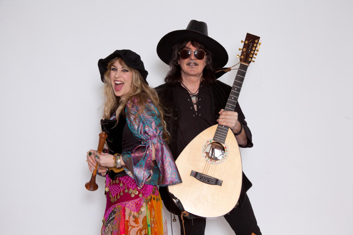 Ritchie Blackmore with his wife, vocalist Candice Night, suited up in this publicity shot for their traditional folk band, Blackmore's Night.