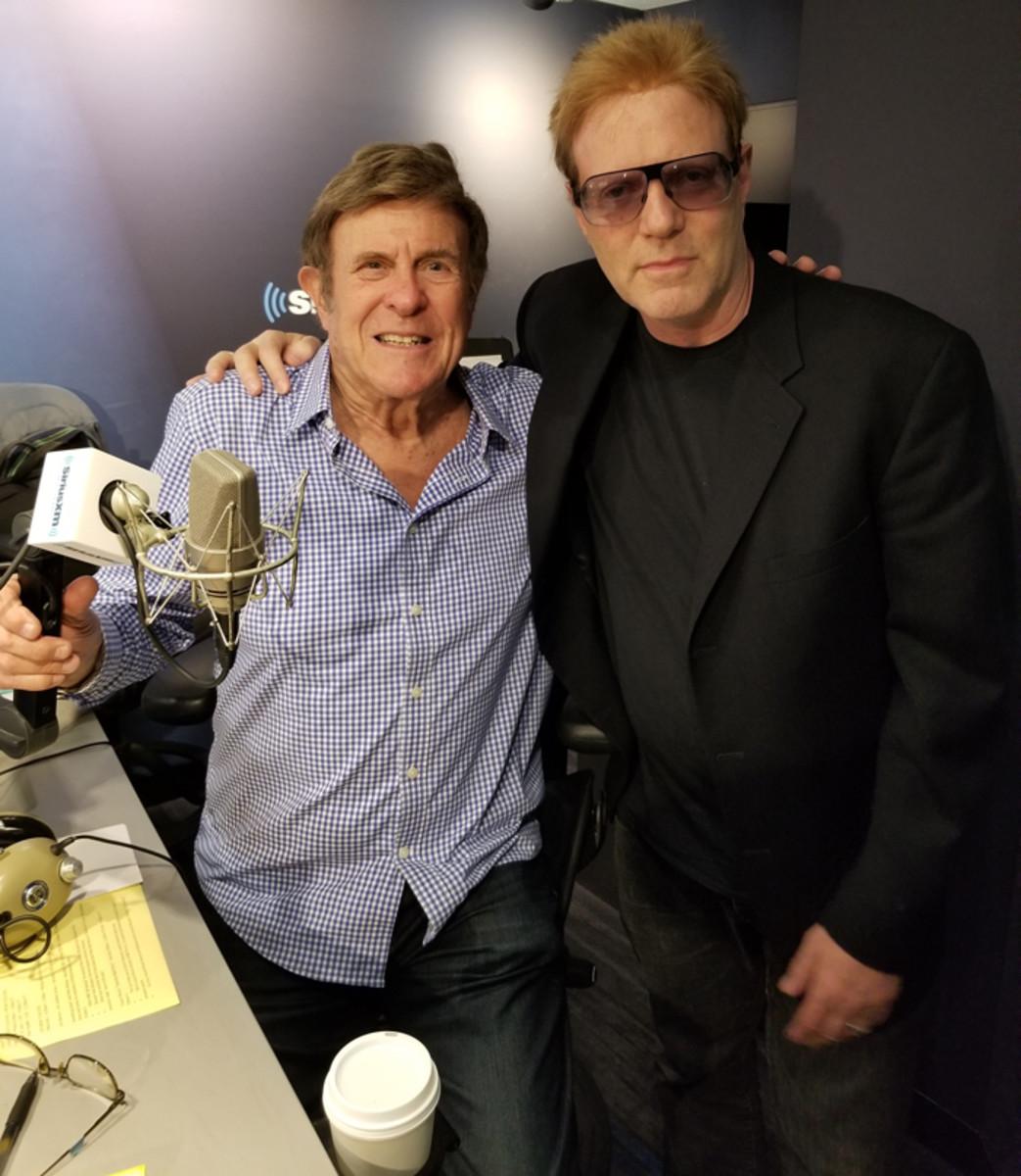 Cousin Brucie (Bruce Morrow) and John (Jay Jay) French at SiriusXM radio studios. Photo courtesy of John French.