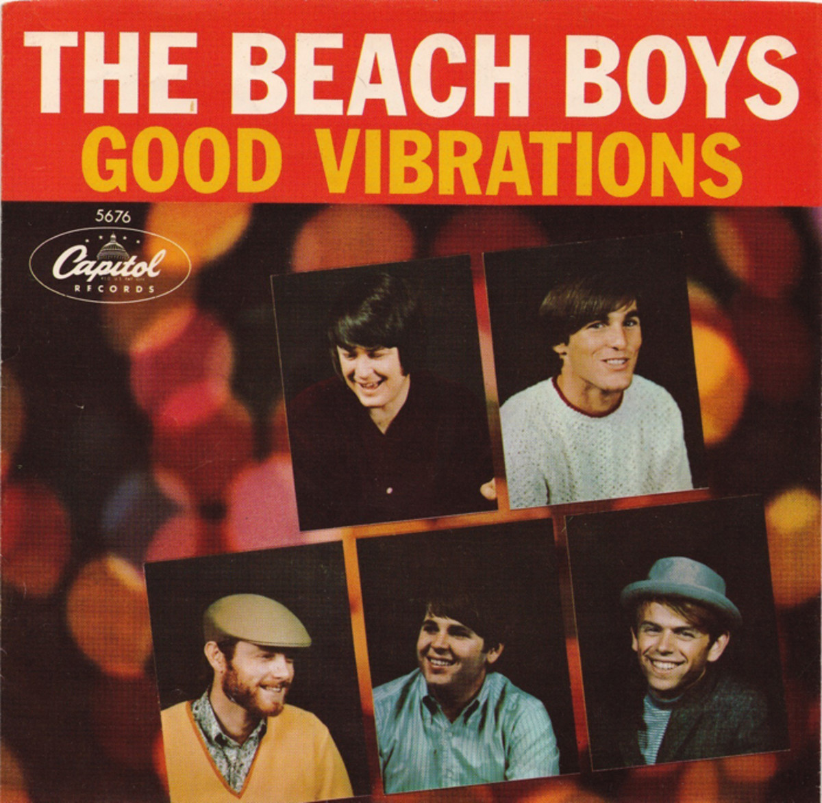 """Cover art for the """"Good Vibrations"""" single, released in 1966."""