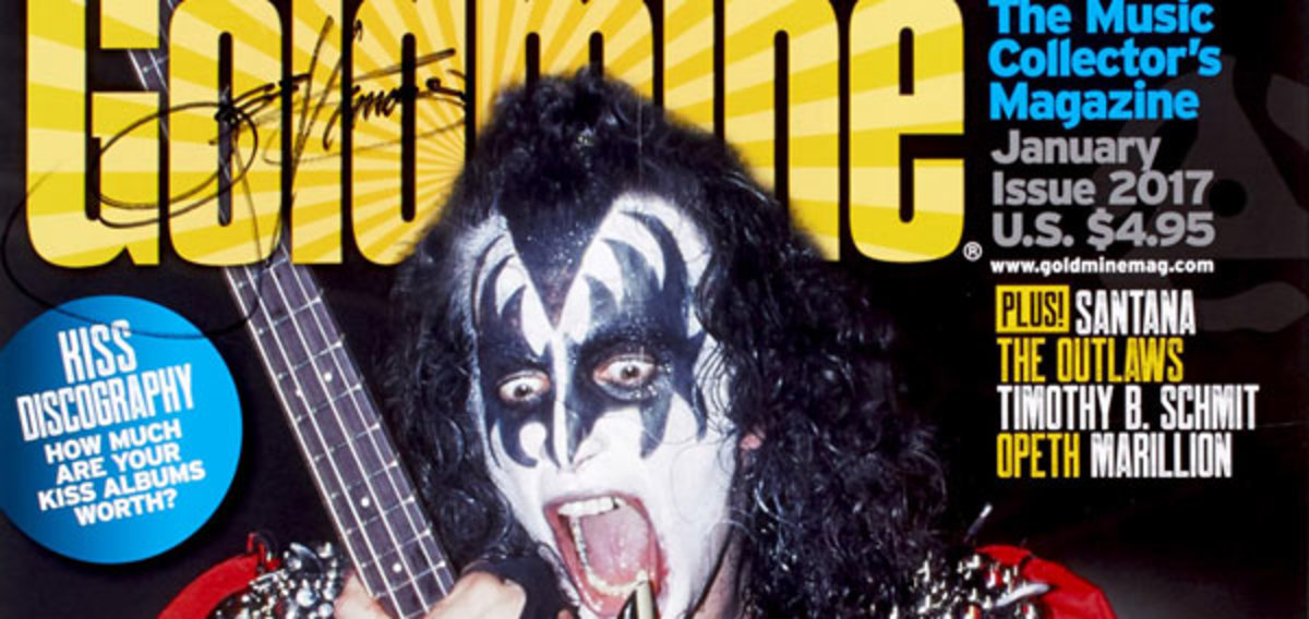 The Gene Simmons autograph on the poster