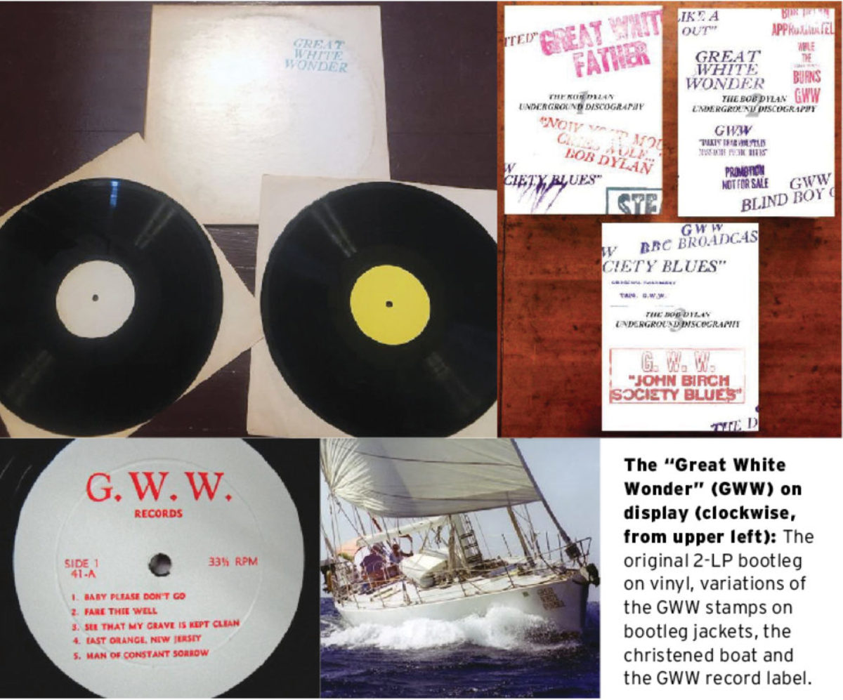 Photos Courtesy of Ken Douglas & Facebook page 'Great White Wonders: Studies of the early TMOQ Dylan Bootleg Records.'