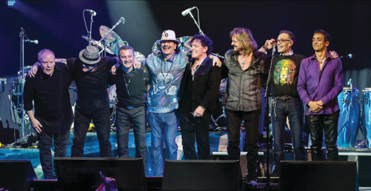 Santana in concert 2016. Publicity photo.