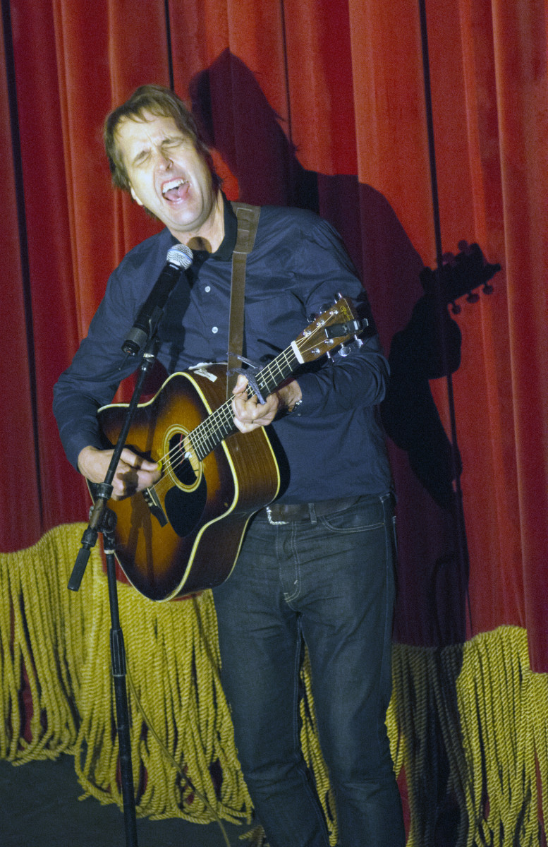 "Chuck Prophet, whose brief acoustic set included ""Bad Year for Rock and Roll,"" a song from his forthcoming Yep Roc album, ""Bobby Fuller Died for Your Sins."" (Photo by Chris M. Junior)"