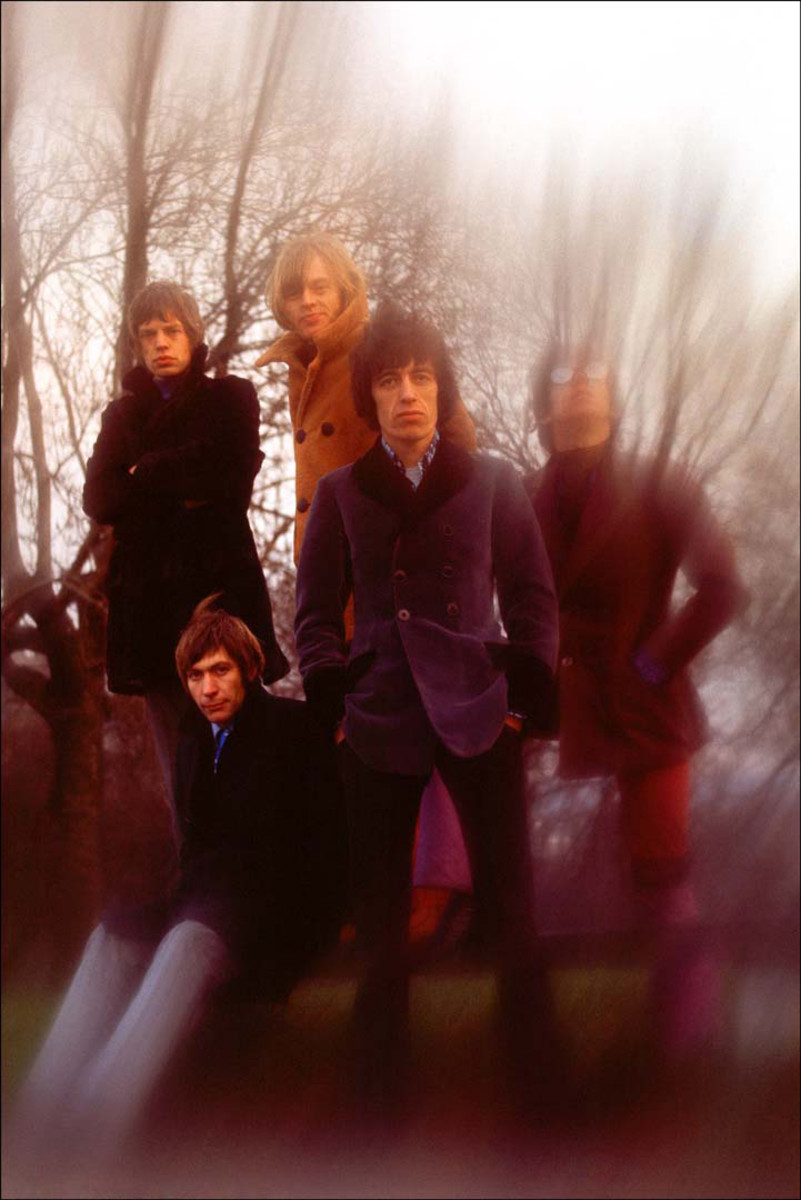 """Rolling Stones during the """"Between the Buttons"""" cover session. Photo by Gered Mankowitz"""