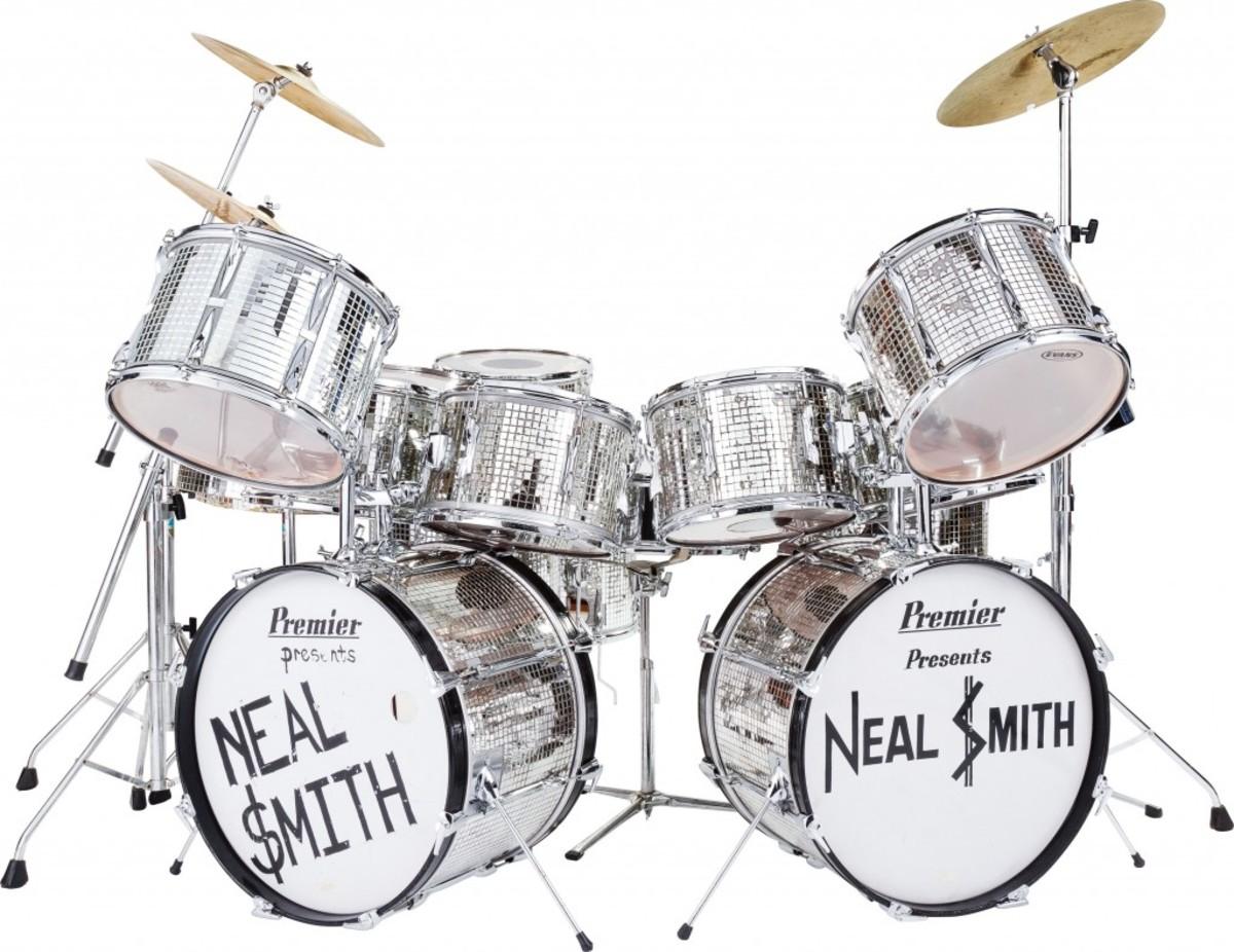 Neal Smith's 18-piece Billion Dollar Babies Tour Premier Mirror Ball drum set (opening bid: $7,500)