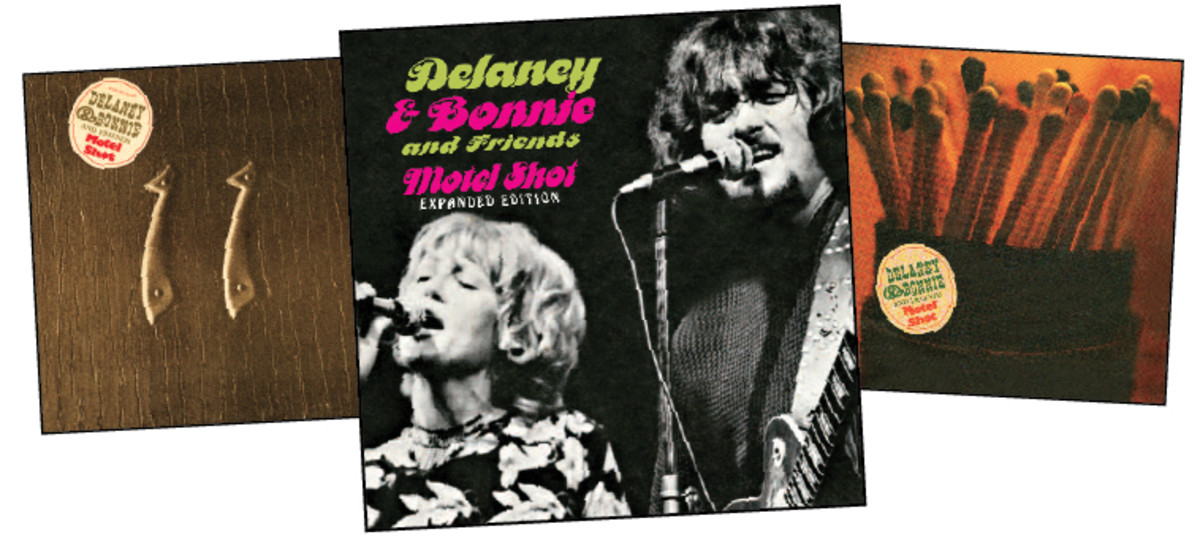 """Three releases (L-R): Delaney & Bonnie's original """"Motel Shot"""" U.S. release (1971, Atco), the Expanded Edition (2017, Real Gone) and a 1971 European release."""