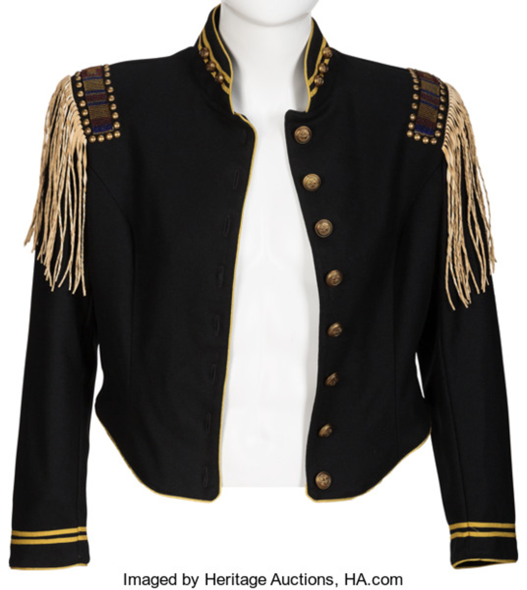 Tom Petty Stage Worn Cavalry Jacket (Circa 2000). Courtesy of Heritage Auctions.