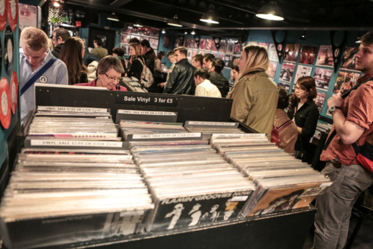 General view inside Sister Ray Store on Record Store Day in Berwick Street on April 20, 2013 in London, England. (Photo by Christie Goodwin/Redferns via Getty Images)