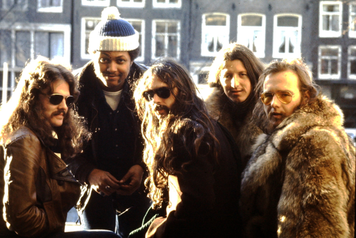 Doobie Brothers on January 19, 1974 outside the Pulitzer Hotel in Amsterdam. Photo by Laurens Van Houten/Frank White Photo Agency.