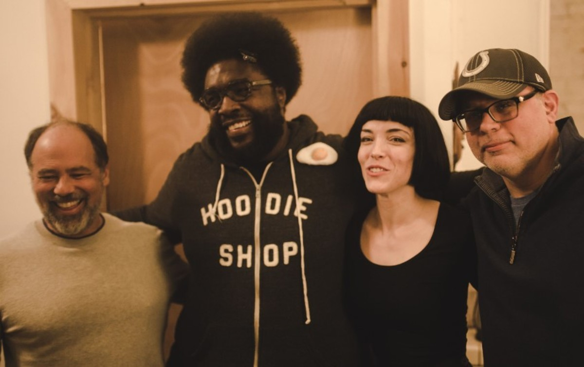 (L-R) Steve Greenberg, Questlove, Elise LeGrow and Michael Mangini (Courtesy of Elise LeGrow and Shore Fire Media)