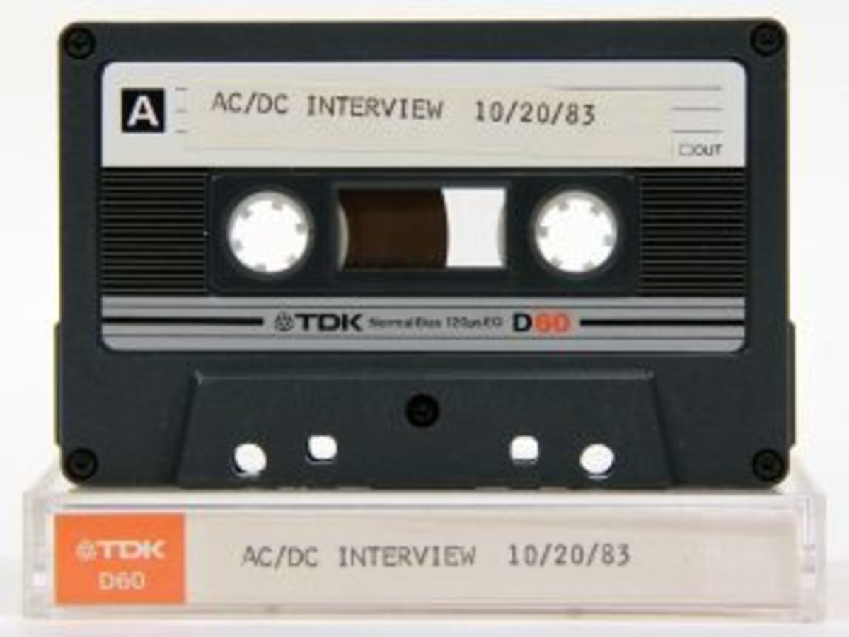 AC/DC interview cassette. Photo courtesy of Backstage Auctions.
