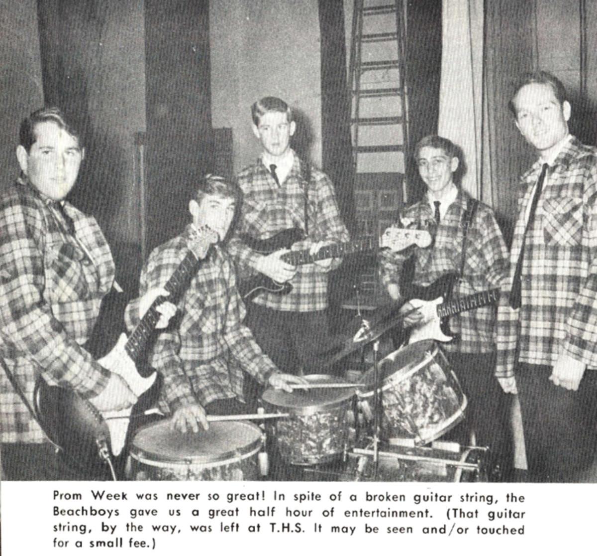 Beach Boys were a highlight at Torrance High School, March 1962.