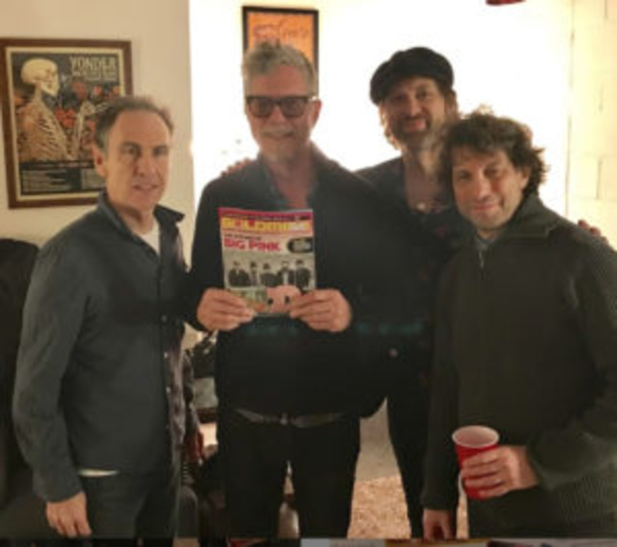 The Jayhawks backstage at The Warehouse in Fairfield, CT last night with a Sept 2018 copy of Goldmine Magazine (an issue which Gary Louris is interviewed by Ray Chelstowski).