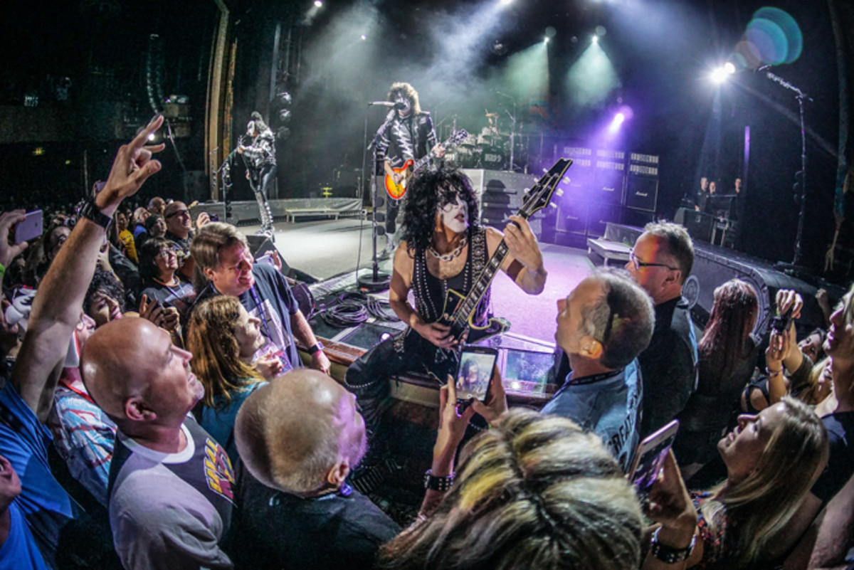 """""""Creatures of The Night"""" themed electric show, Stardust Theater. KISS performed the show on both November 5 and 6. Photo by Will Byington."""