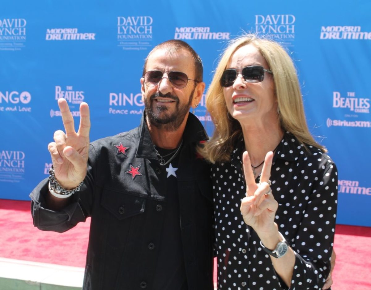 Ringo and wife Barbara Bach