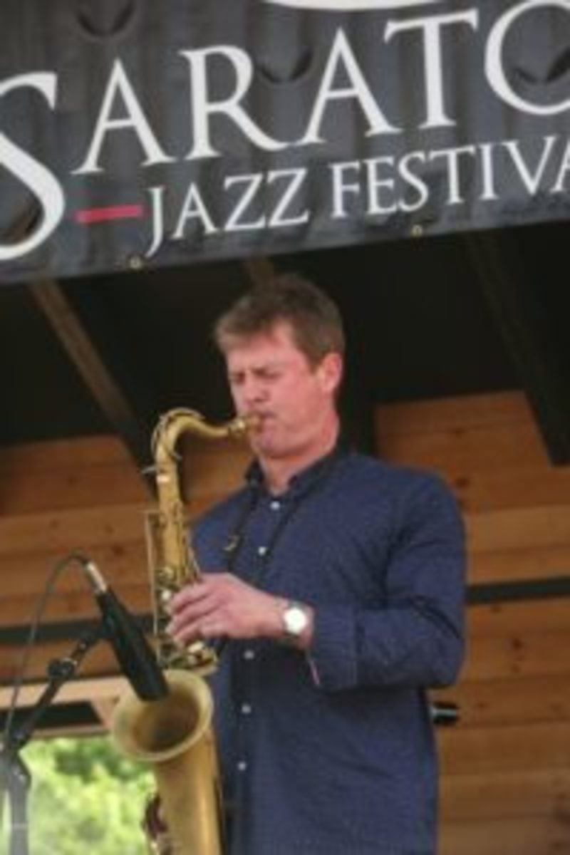 Just one of the many Saratoga Highlights: Wildman Saxophonist Eric Alexander.