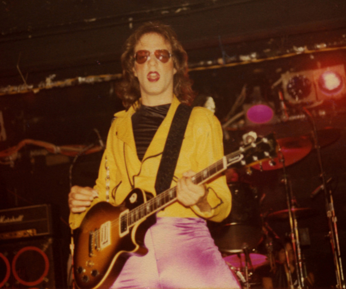 A photo of guitarist Jay Jay French during Twisted Sister's bar days (at right, photo courtesy of Music Box Films) .
