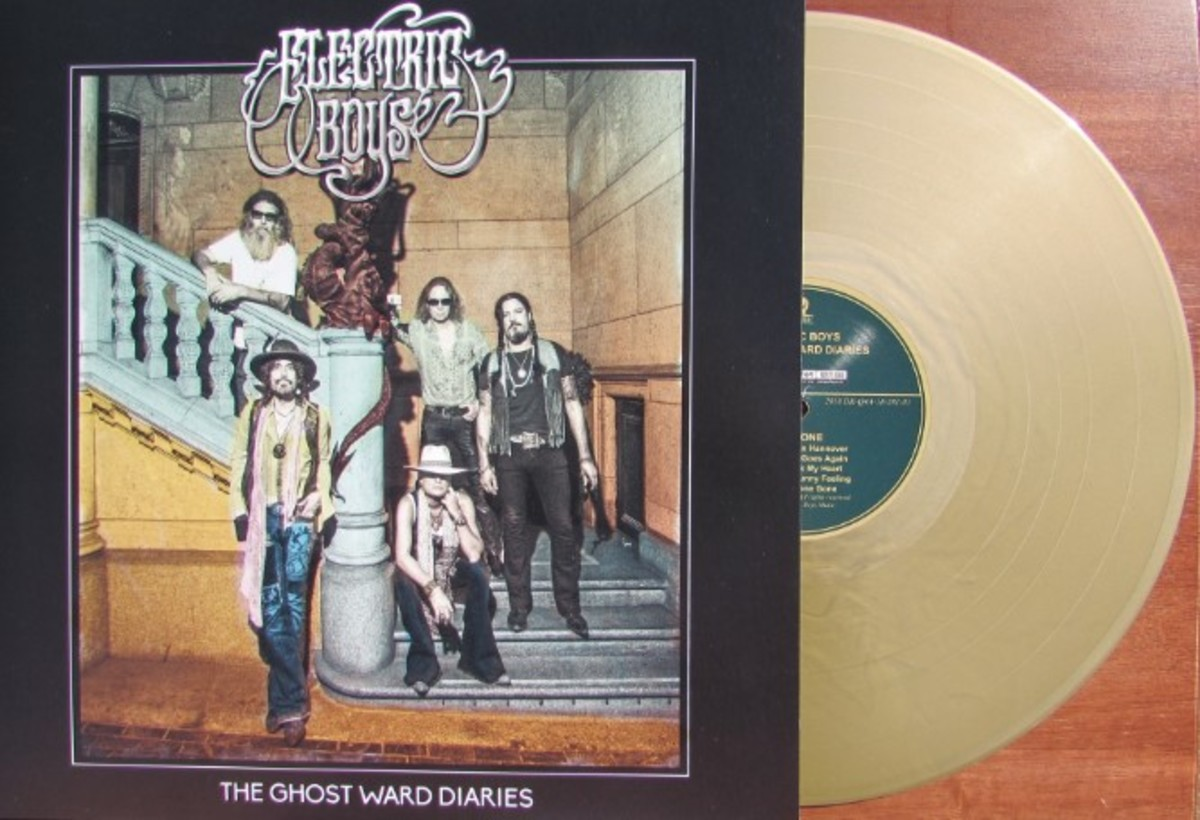 Electric Boys' gold colored record