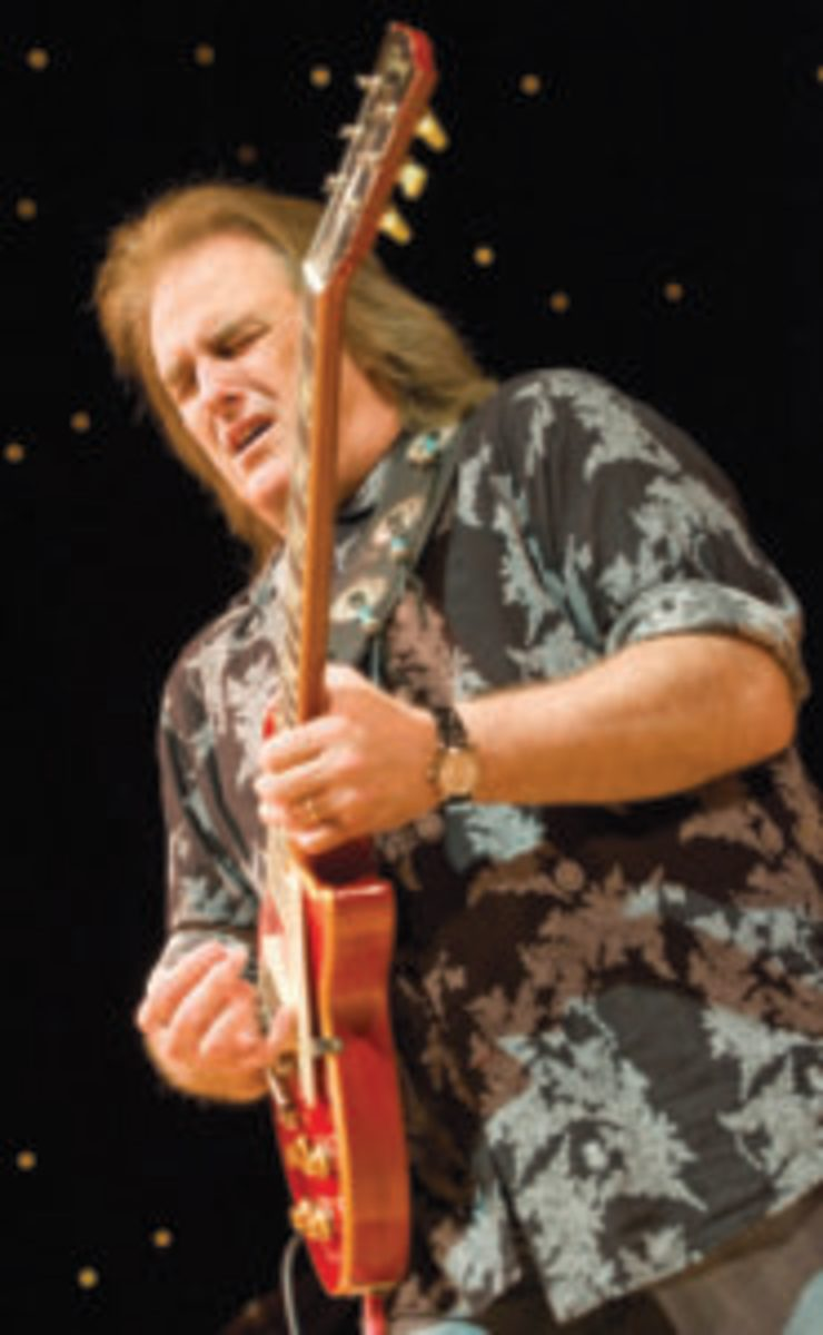 Rocky Athas performs with John Mayall at De Montfort Hall And Gardens on November 8, 2011 in Leicester, England. (Photo by Steve Thorne/WireImage)