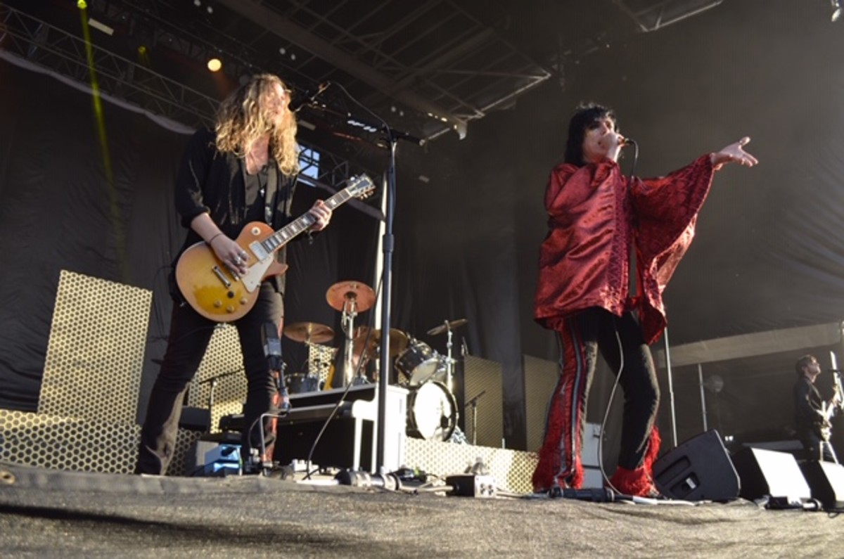 The Struts performing at this year's Riot Fest. Photo courtesy of Alan Brostoff.