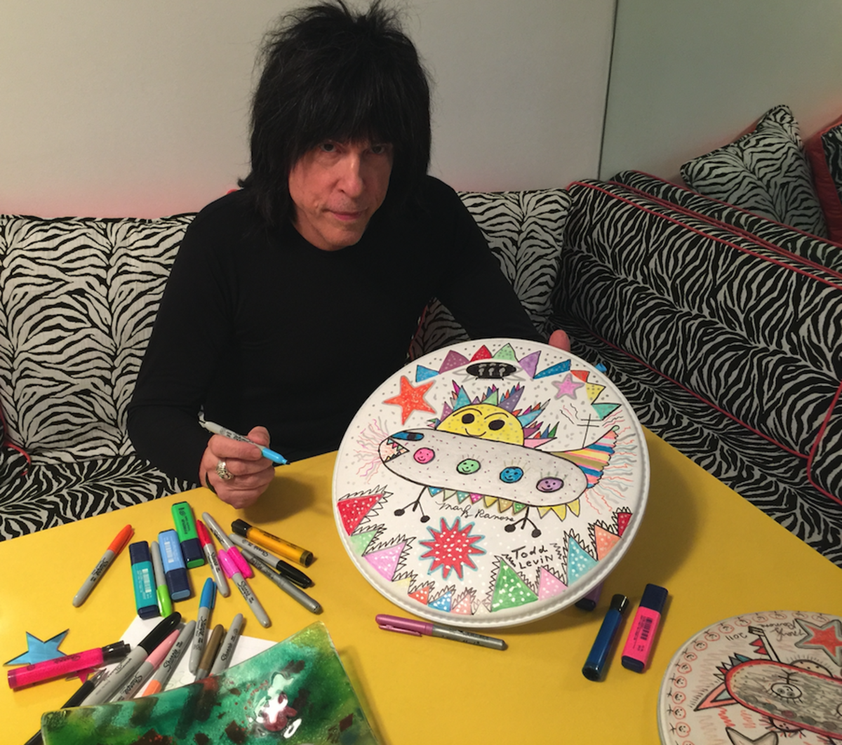 "Marky Ramone will Create You a ""One of a Kind"" Personal Drum-Head Hand Created Masterpiece"
