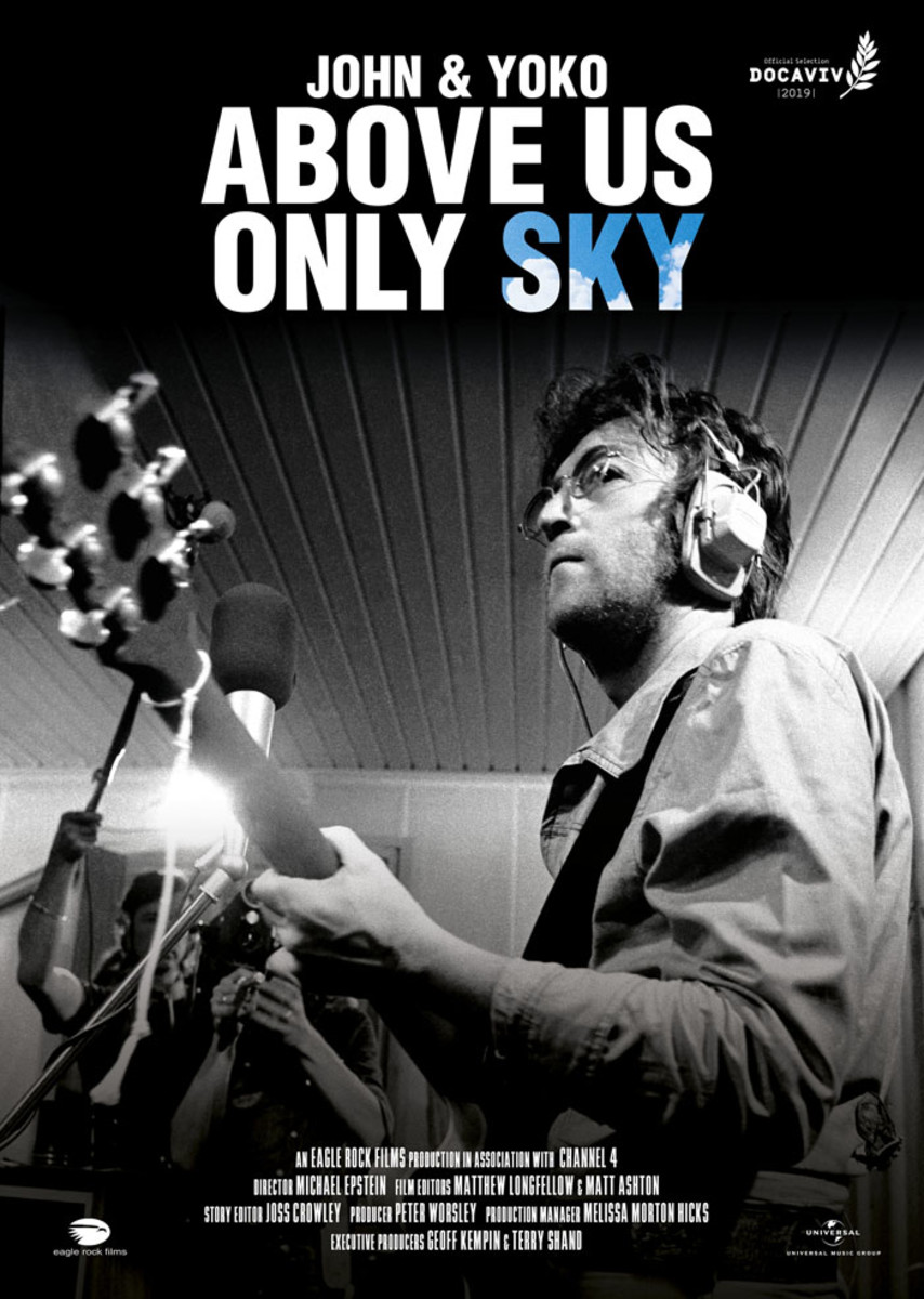 Above Us Only Sky, a new documentary film from director Michael Epstein that chronicles the recording of John Lennon's landmark 1971 album Imagine, has its American premiere on A&E this Monday night, March 11th at 9 p.m. Eastern.