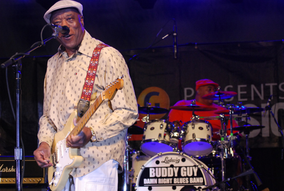 Buddy Guy performing live with his Damn Right Blues Band. (Photo by Joe Curtis)