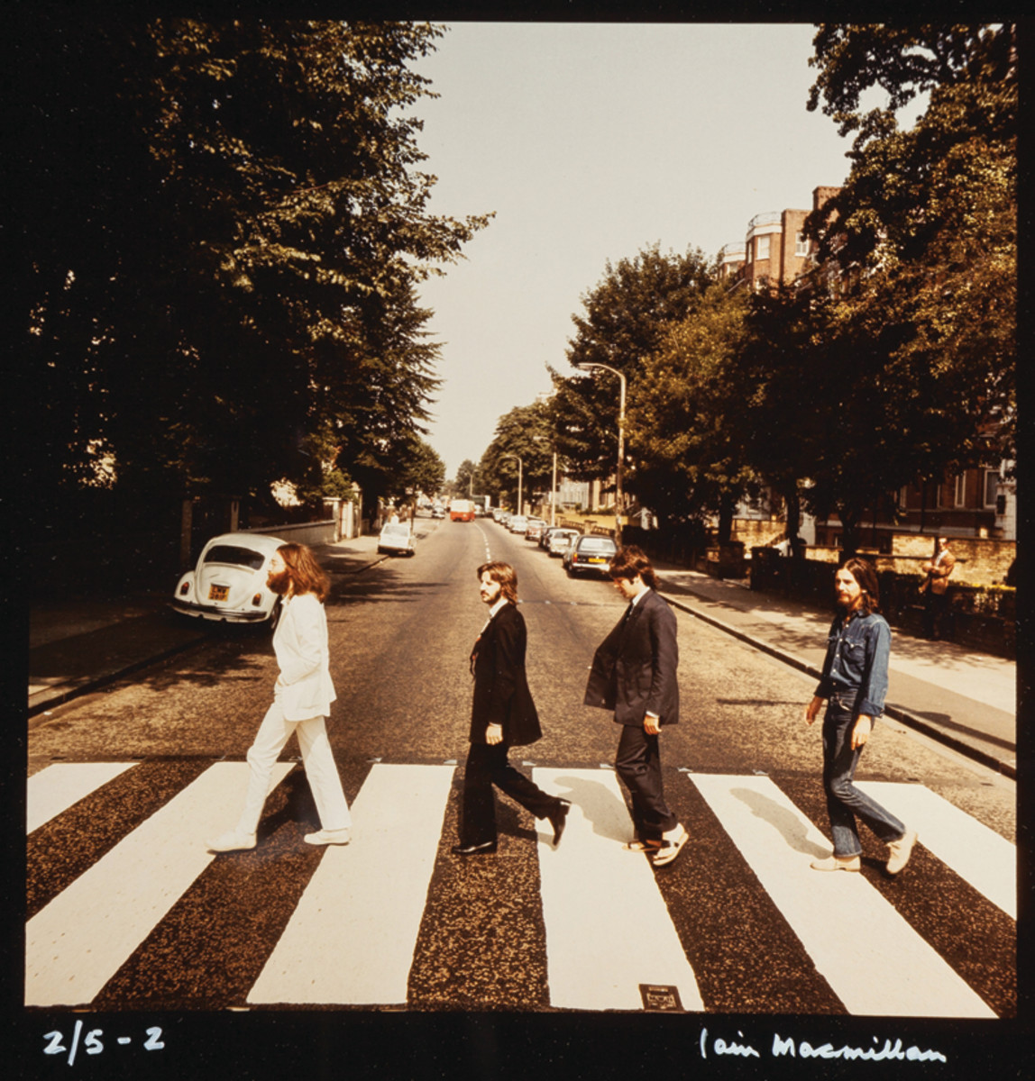 One of the six rare alternate photo outtakes of the Abbey Road cover. The set of six sold for $62,500 at auction in 2016 via Heritage Auctions. The set was originally owned by an executive at the Capitol/Apple Offices in New York City. Image courtesy of Heritage Auctions.