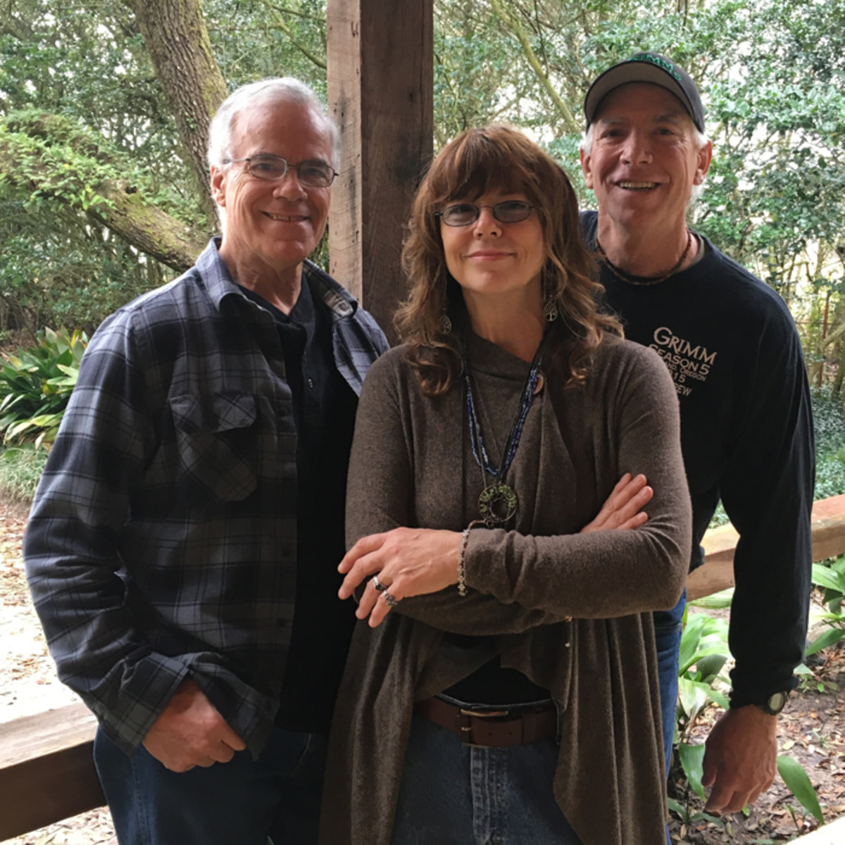 THE COWSILLS 2018 (L-R): Bob Cowsill, Susan Cowsill and Paul Cowsill at Dockside Studio in Maurice, Louisiana. Photo by Cézanne Nails, courtesy of The Cowsills.