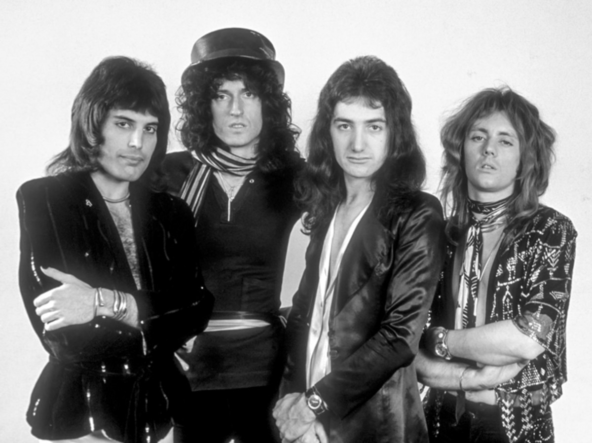 Queen in the '70s. Image courtesy of BBC Photo Library