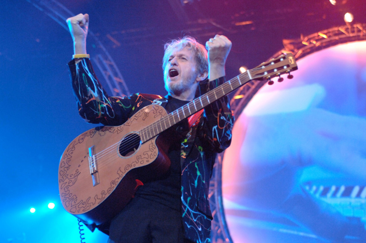 Jon Anderson, performing on a later Yes tour. (Photo by Rob Verhorst/Redferns)