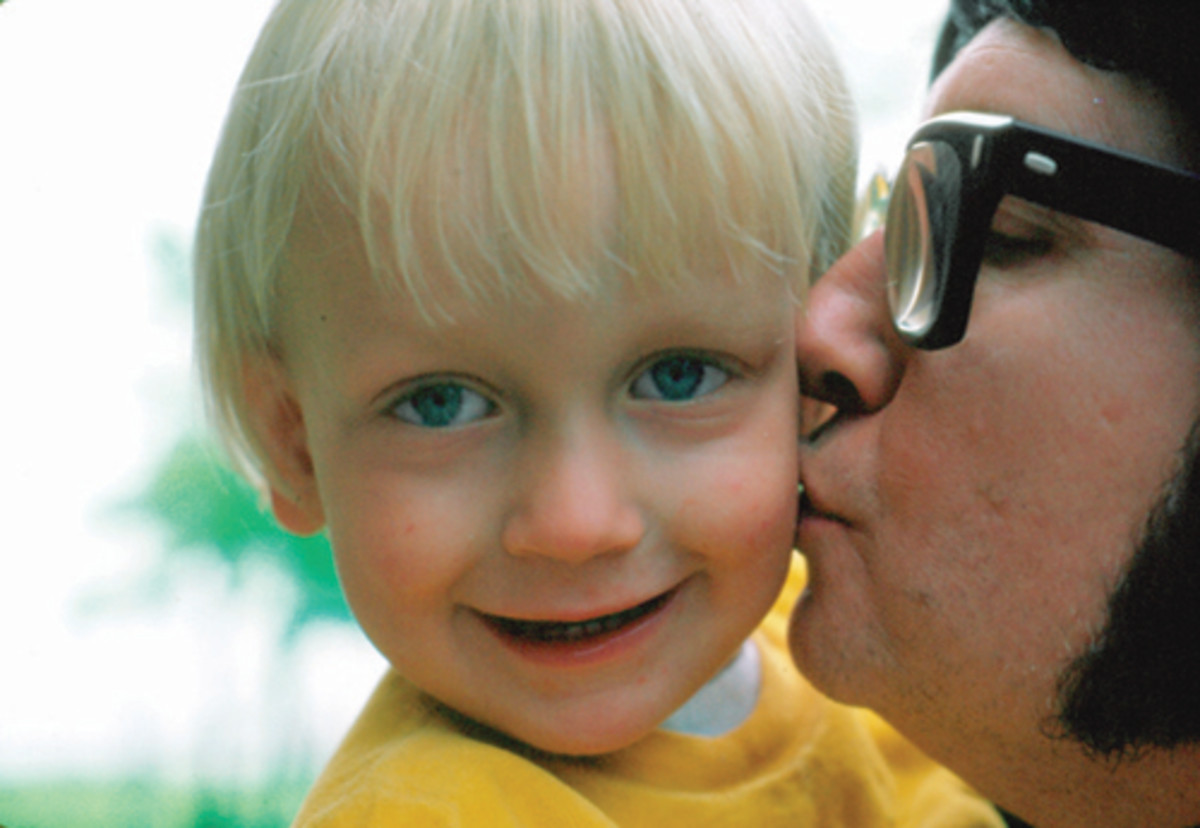 A cherished family photograph of Alex Orbsion with his father. (Photo courtesy of Roy's Boys LLC.)