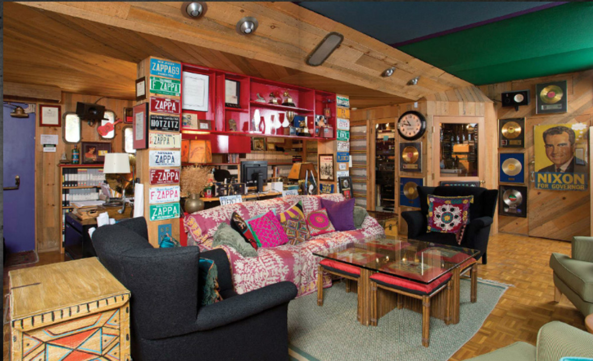 A room in Zappa's estate, filled with items up for auction. Photo Courtesy of Julien's Auctions.