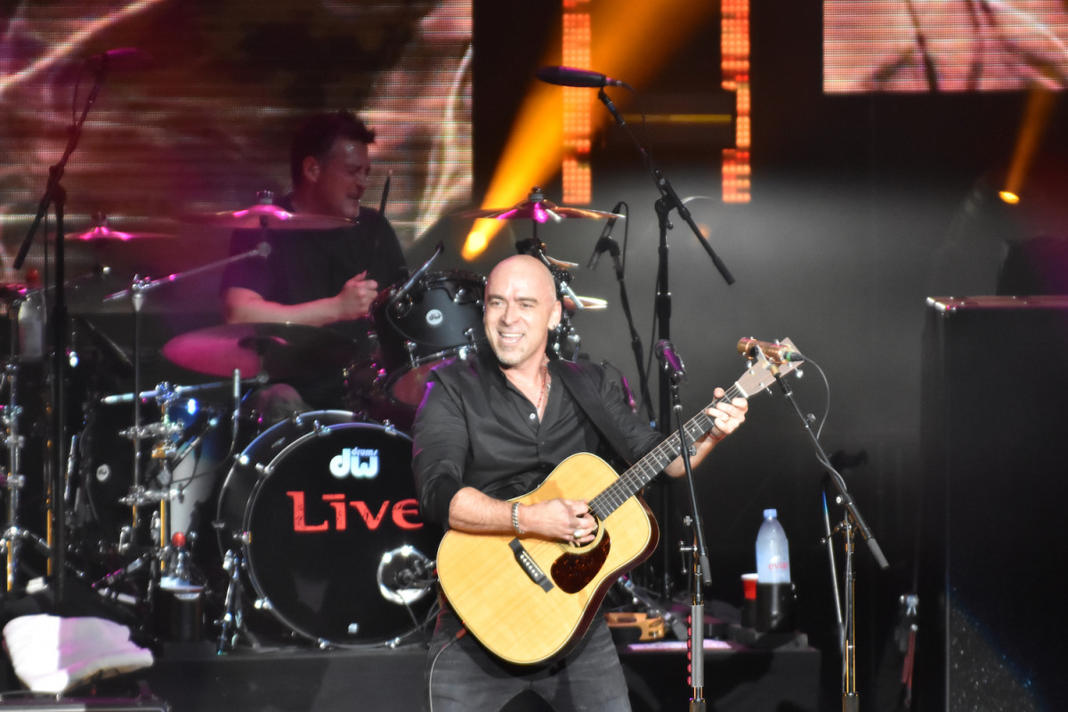 "+Live+ singer Ed Kowalczyk performs ""Selling the Drama"" on June 15 at PNC Bank Arts Center in Holmdel, N.J. (Photo by Chris M. Junior)"