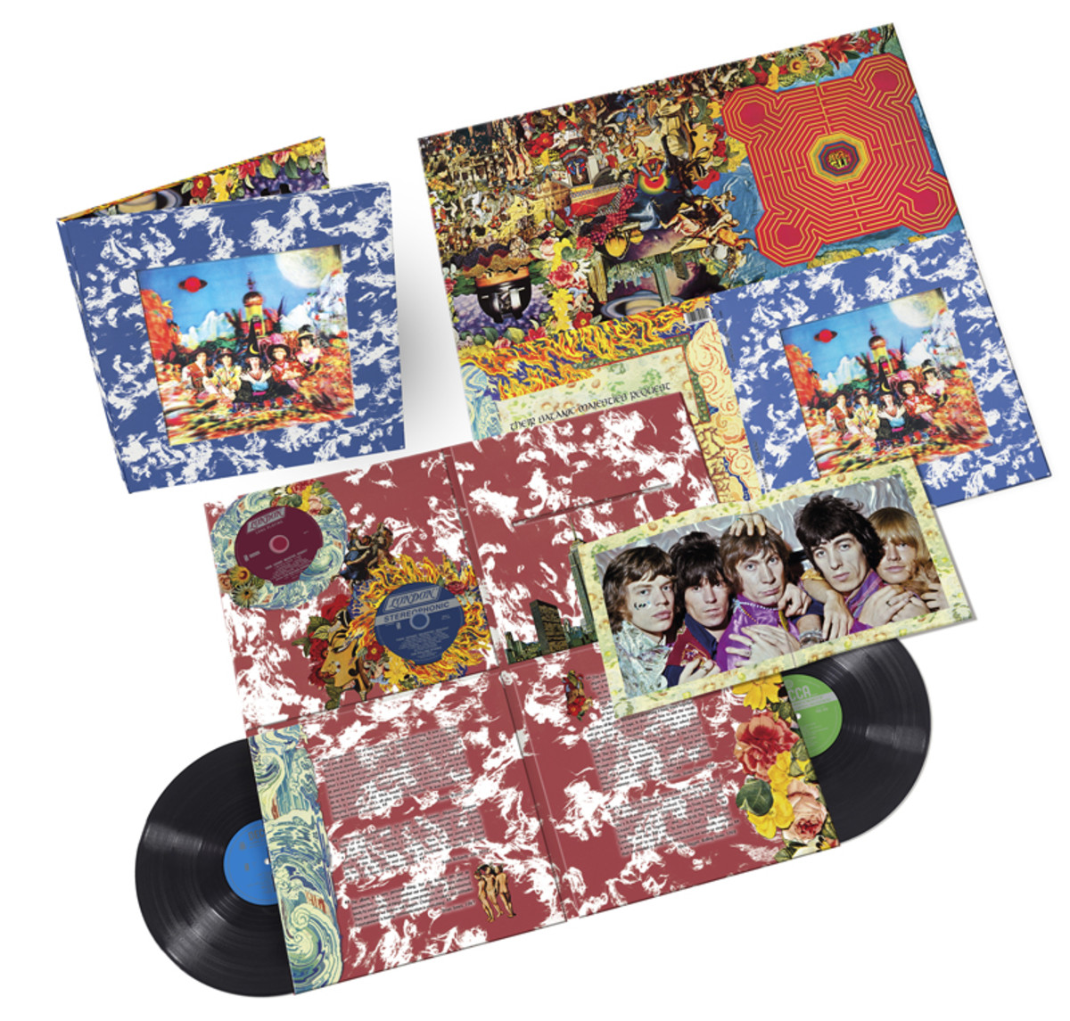 """REQUESTED REISSUE: To commemorate the 50th anniversary of """"Their Satanic Majesties Request,"""" ABKCO Music released a limited edition, deluxe double vinyl/double hybrid Super Audio CD package. The set contains both the stereo and mono versions of every song, all newly remastered by Bob Ludwig."""