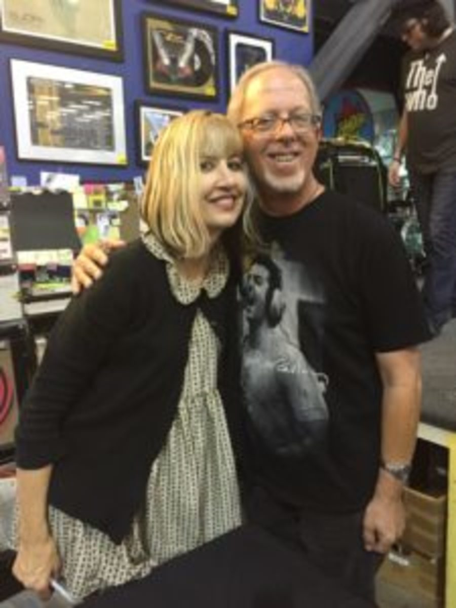 The author with Kim Shattuck.