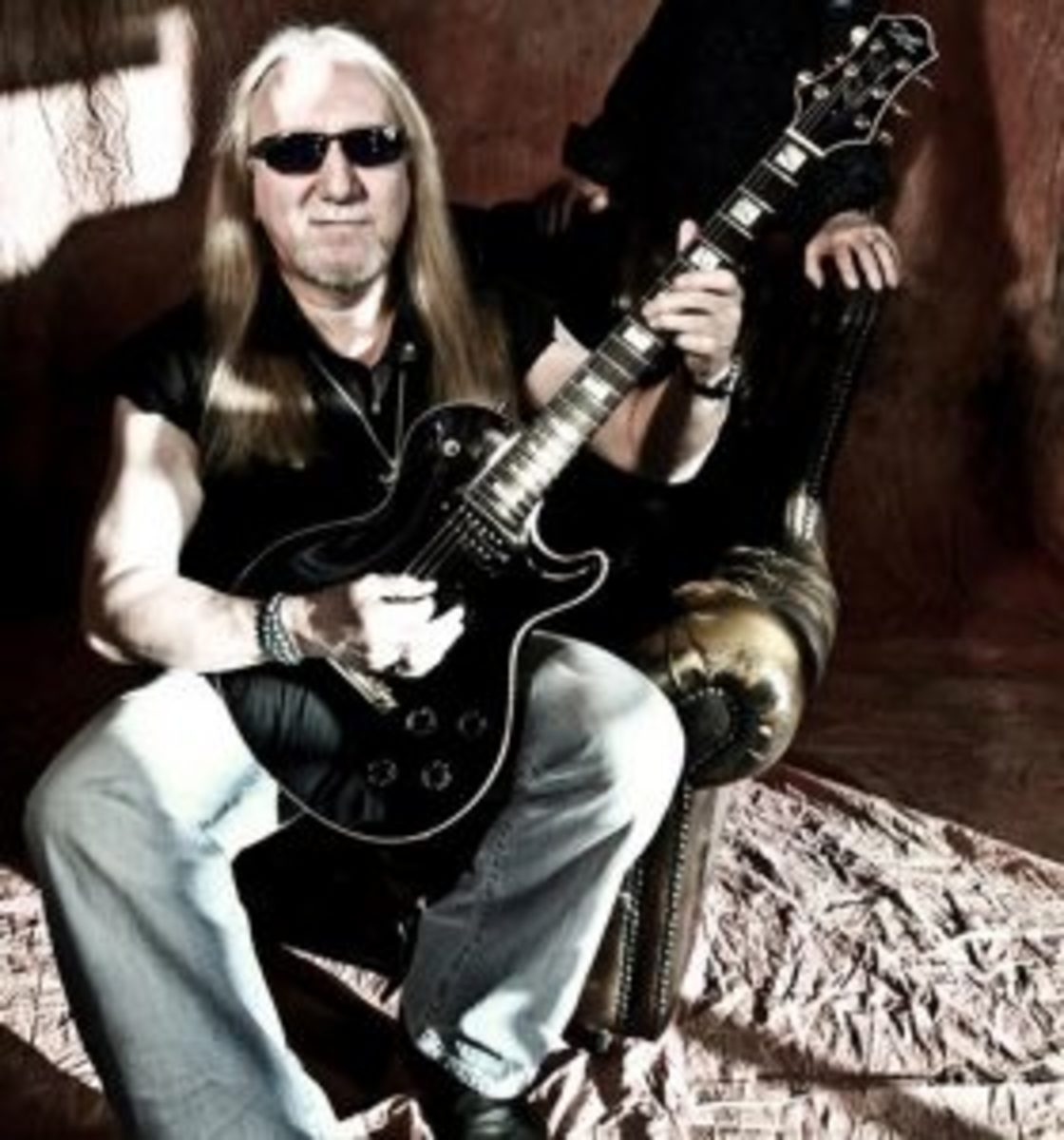 Lead guitarist Mick Box of Uriah Heep. Publicity photo